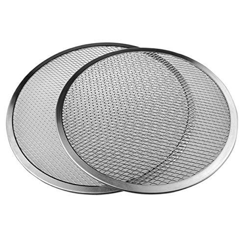 6/8/10/12 Zoll Nahtlose Aluminium-Pizza-Bildschirm-flaches Mesh-Backtray-Metall-Netz-Backformen Küchenwerkzeuge...