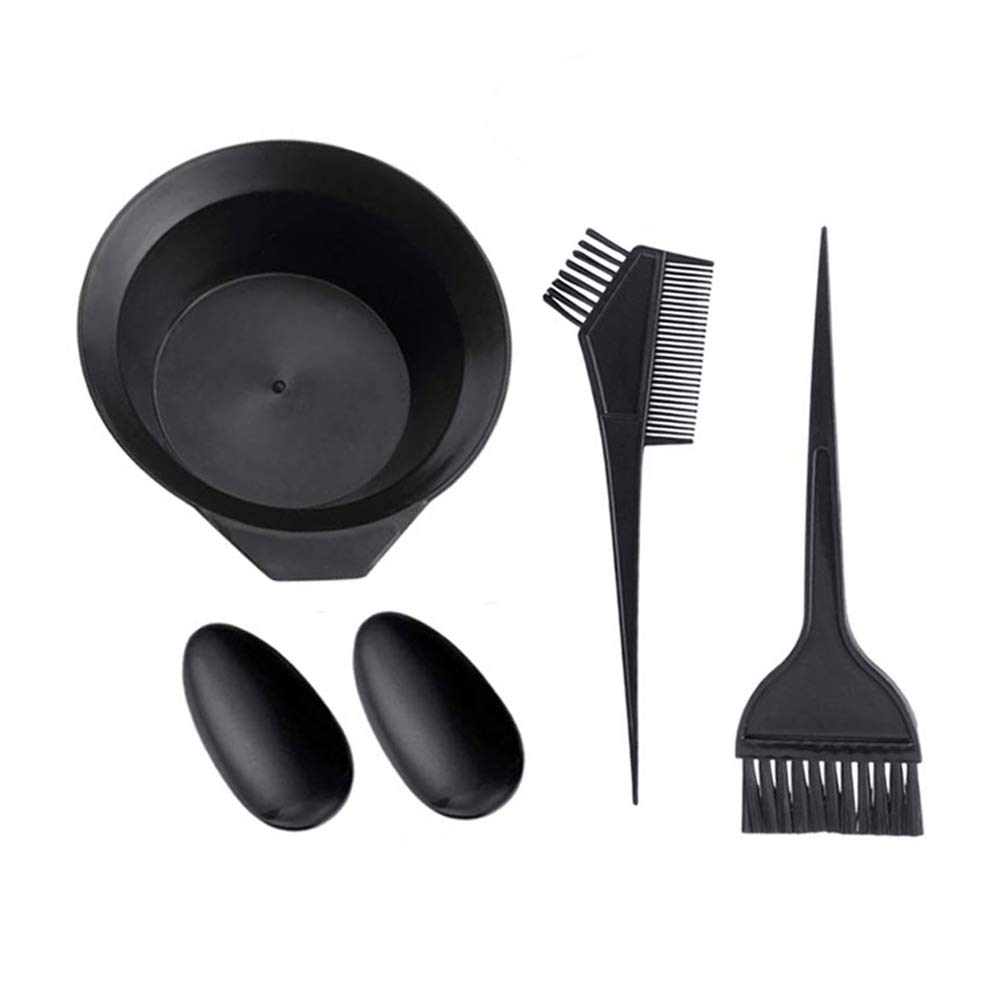 4 PCS Hair Dye Coloring Salon Tool Kit, Hair Tinting Bowl, Hair Color Brush & Comb, Ear Cover for Hair Coloring Bleaching Hair Dryers DIY Hair Dye Tools : Beauty & Personal Care