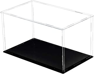 DIETSON Self-Assembly Acrylic Display Case Clear Showcase Store Box Dustproof for Pop Figures Collectibles Toys, Need Remove The Protective Film