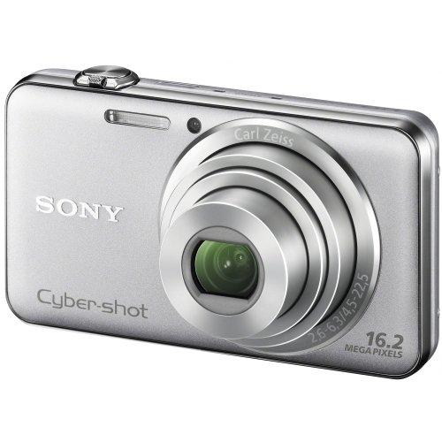 Sony DSC-WX50S Digitalkamera (16 Megapixel, 5-fach opt. Zoom, 6,7 cm (2,7 Zoll) Display, bildstabilisiert, 3D-Schwenkpanorama) silber