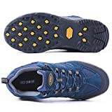 TFO Hiking Shoes Men Non-Slip Breathable for Outdoor Trekking Walking Blue