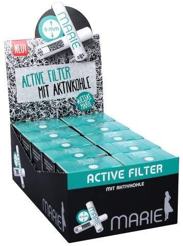 Marie Active Filter, Aktivkohlefilter 6mm, 10 Packungen mit je 34 Stück