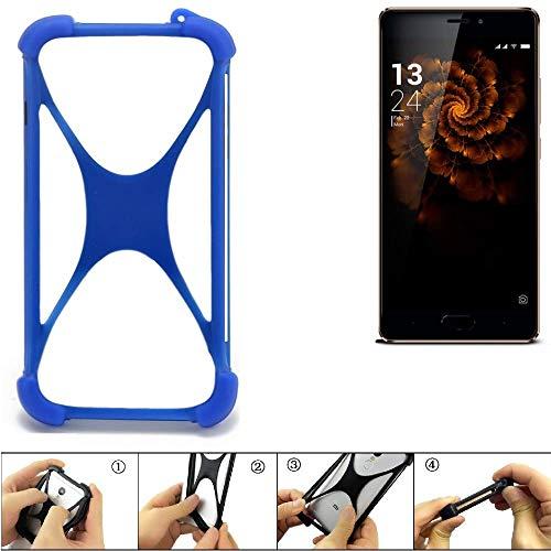 K-S-Trade® Handyhülle Für Allview X3 Soul Pro Silikon Schutz Hülle Cover Case Bumper Silikoncase TPU Softcase Schutzhülle Smartphone Stoßschutz, Blau (1x),