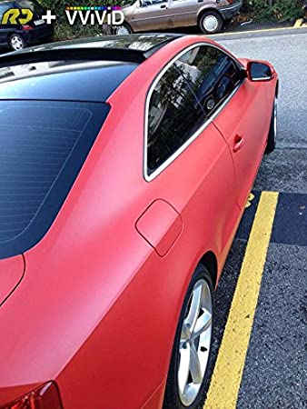 VViViD Matte Blood Red Vinyl Wrap Roll with XPO Air Release Technology 17.75 Inch x 5ft