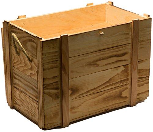 Kistenkolli Altes Land Weinkiste 12er geflammt inkl. Holzwolle/Holzkiste/Geschenkbox/Aufbewahrungsbox/Überraschungskiste/Weinbox/Hochzeitskiste (12er Weinbox) - 2