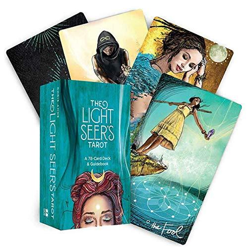 DFGHJKNN Light Seer's Tarot Deck Solitaire 78 Teile Familienparty Solitaire Spiel Wahrsagung Destiny Deck Spiel – englische Version