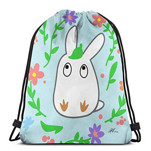White to-t-oroo Drawstring Backpack Gym Sack Pack Solid Cinch Pack Sinch Sack Sport String Bag