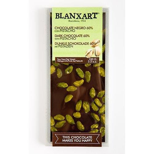Blanxart Chocolate 60{4ae97cba5a107681807d751e61cc40b76068357da775fe2510d5f8193e335027} Negro con pistacho 100g