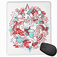 マウスパッド赤い漫画 マウスパッドゲーミングマウスパッド大型ゲーミング滑り止めハイエンド流行のファッション防水耐久性滑り止めラバーボトム 25*30cm