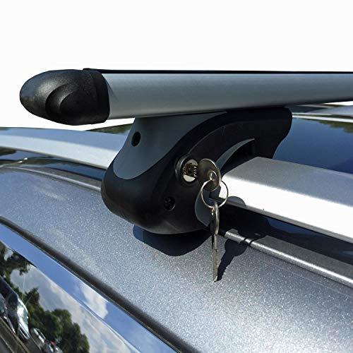 VDP Alu Relingträger XL135 kompatibel mit VW Tiguan II ab 16 Dachträger abschließbar