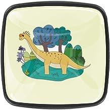 Lange Gele Dinosaurus Dressoir Laden trekt Kabinetsknop Decoratieve Meubilair Knoppen Kasten Vierkante Knoppen (4 Stks)