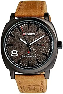 Curren For Men Sports Pu Leather Band Watch 8139 , Analog