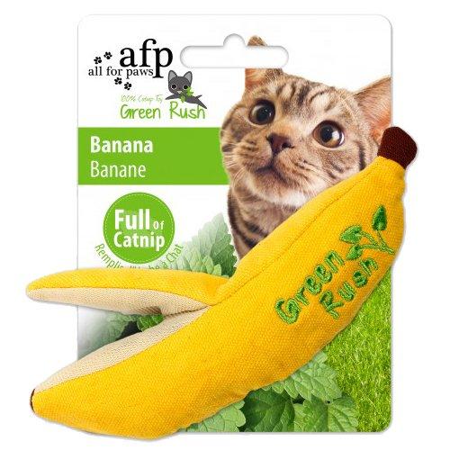 AFP AFPK02416 Katzenspielzeug Green Rush Banana mit 12 g Katzenminze