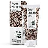 Face Cream Australian Bodycare, 100ml: crema hidratante facial para piel grasa y propensa a manchas, granos y acné. Con aceite de árbol del té australiano de alta calidad farmacéutica y 100% de pureza