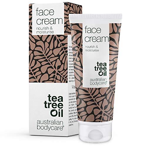 Australian Bodycare Face Cream 100 ml | Gesichtscreme Männer & Frauen mit unreiner, fettiger, trockener Haut & Mischhaut | Creme für Pickel & zu Akne neigender Haut | Feuchtigkeitsspendend | Teebaumöl