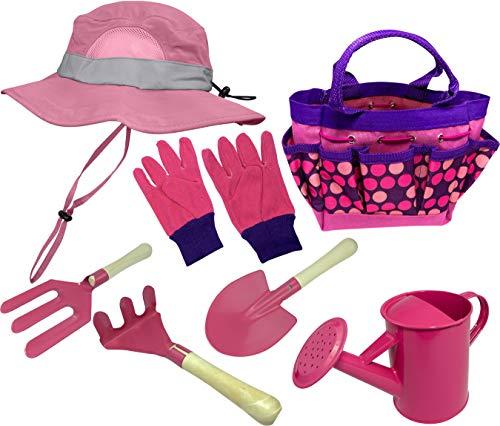 Eagle Eye Explorer - Gartengeräte für Kinder in Rosafarben, Größe Gardening Kit with Sun Hat