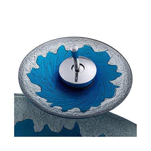 HomeLava Modern Rund Blau Welle Gehärtetes Glas für Wasserfall Armatur