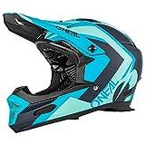 O'Neal Fury Hybrid RL DH Fahrrad Helm türkis blau