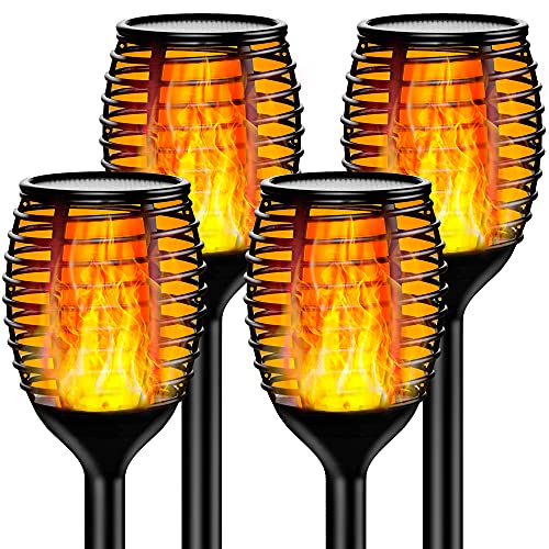 InnoGear Solar Torch Lights, 96 LED Solar Flame Torch Lights Outdoor Waterproof Wireless Light Auto On/Off for Patio, Driveway, Garden, Path and Yard, Pack of 4