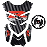 REVSOSTAR Motorcycle Vinyl Decal Emblem Protection,5D Gas Tank Cap, Tank Protector For GSXR600 GSXR750 GSXR1000