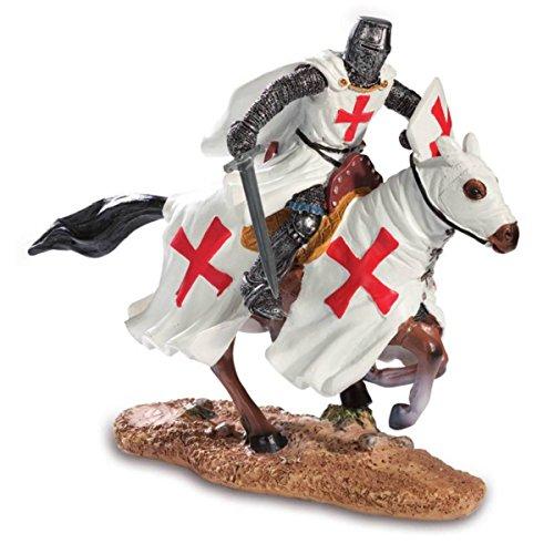 Isideco Kreuzritter mit Schwert auf Pferd Templer