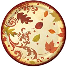 8-Count Recycled Earth Smart Round Paper Dinner Plates, Fall Flourish