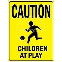 Palyでの子供への注意 金属板ブリキ看板警告サイン注意サイン表示パネル情報サイン金属安全サイン