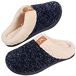 NOTE: Due to the memory foam, the slippers might feel snug at first - just give them a couple of days to break in and they should fit better. If you are between sizes or have a wide feet, please choose 1 size lager. ULTRA-SOFT WOOL-LIKE PLUSH FLEECE ...