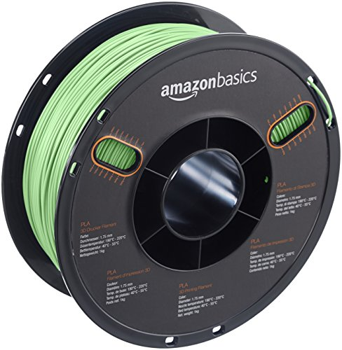 AmazonBasics PLA 3D Printer Filament, 1.75mm, Neon Green, 1 kg Spool