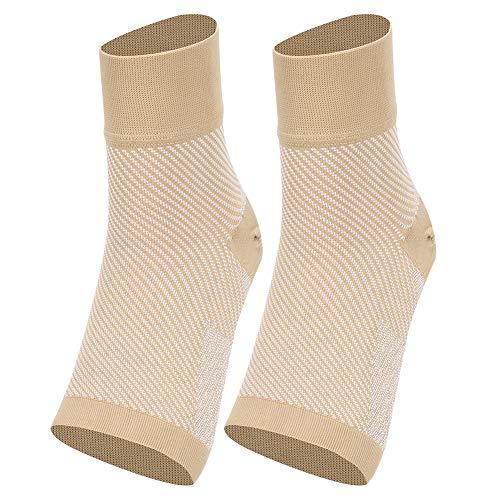 Demeras Calcetines de compresión para el Cuidado de los pies, aliviar la Fascitis Plantar(High-End Twill Ankle Support (Skin Pattern), M)