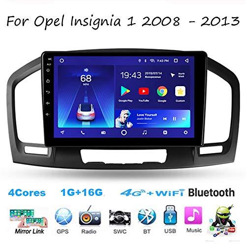 TypeBuilt para Opel Insignia 1 2008-2013 Android 9 Radio Estéreo 9 Inch Pantalla Táctil Capacitiva Navegación Cámara De Respaldo Estéreo Audio FM/Am/RDS Radio Video Player Bluetooth SWC,4cores,1G+16G