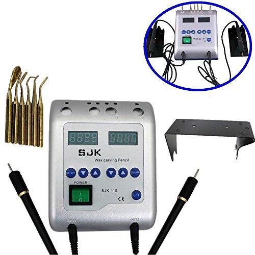 Calentador de cera Waxer eléctrico dental Talla doble Pen