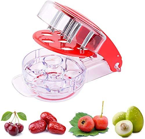 eoocvt Kitchen Gadget Stainless Steel Zigzag Blades Cherry Pitter - 6 Cherries