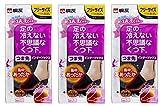 【3個セット】桐灰化学 足の冷えない不思議なくつ下 つま先インナーソックス つま先冷え専用 集中あったか フリーサイズ 黒色 1足分(2個入)×3個