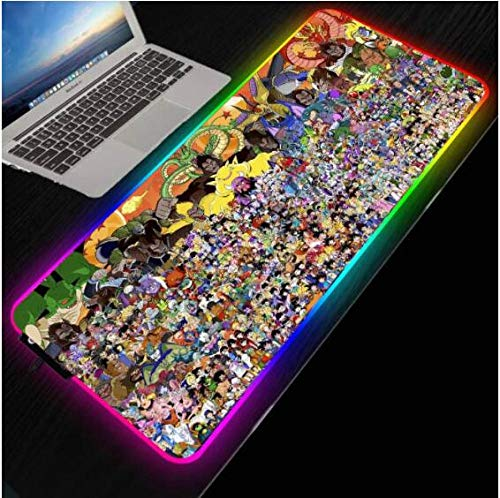 Mouse Pads Dragon RGB Mouse Pad Large Gaming XXL Computer Anime Pad Led Big Mat Keyboard Desk Pc Mause with Backlit(Size_1)3007004Mm