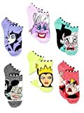 Disney Villains Teen Womens 6 pack Socks (9-11 (Shoe: 4-10), Villains Purple/Multi)