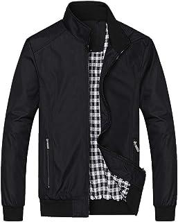 HX fashion Giacca Invernale Da Da Invernale Giacca Uomo Uomo Cerniera Taglie Comode Cappotto Caldo Piumino Lungo Giacca Re...