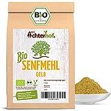 BIO Senfmehl (1kg) Senfsaat gelb gemahlen , teilentölt zur Senfherstellung Senfpulver vom-Achterhof