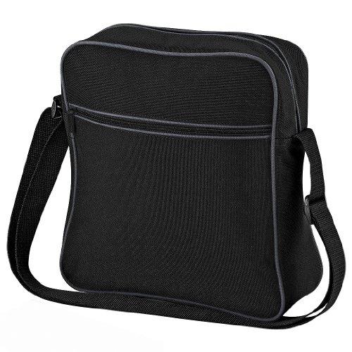 BagBase Retro Flight Bag One Size,Schwarz/Weiß