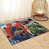 Large Puzzle SpiderMan - Alfombra para mesilla de noche, alfombra de piel de oveja, para sala de estar, dormitorio, sofá, suelo, 91 x 61 cm
