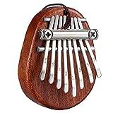 Tiamu Thumb Piano, Mini Kalimba Marimba Portatile, Strumento musicale portatile, ciondolo portachiavi per cellulare, decorazione per interni dell'auto