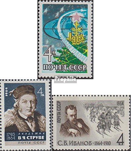 Soviet-Unione 2989,2990,2991 (completa.Problema.) 1964 Anno, Struwe, (Francobolli per i collezionisti)