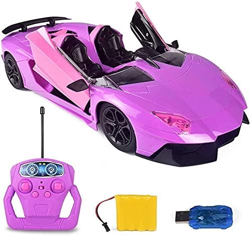 Speed Electric Pink Radio Remote Control Girl 1:18 Radio Remote Control Racing Cars High Racing Cars Control remoto RC Hobby Car Electric Fast Race Buggy Car Juguete todoterreno Rally de tracción en