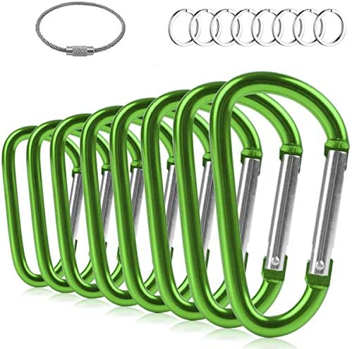 ZEINZE Carabiner Clip 3 Aluminum D Ring Spring Loaded Gate Small Keychain Carabiners Clip Set product image