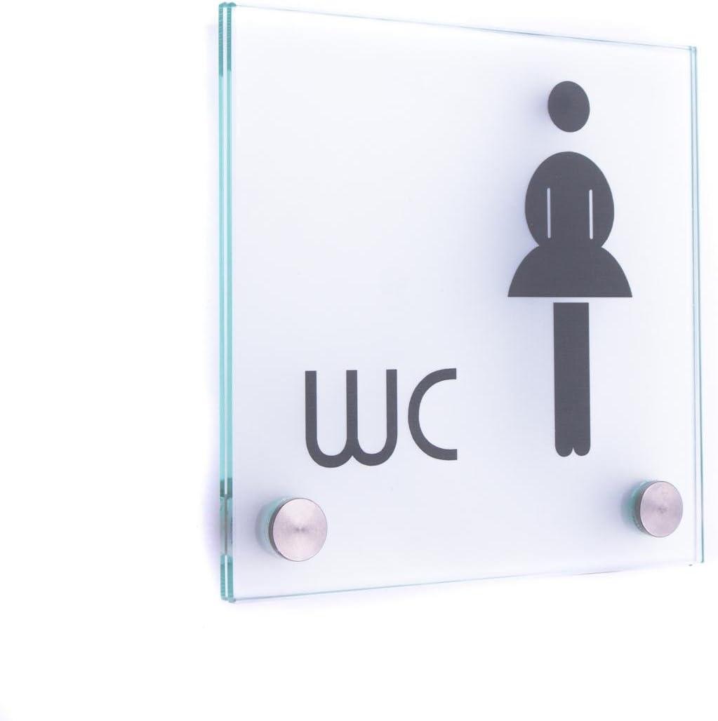 inodoro inodoro color WC Behinderte standard 140//140 mm B2 130//130/mm B2 Placa de cristal puerta Vitrum B