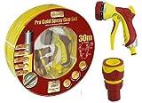 Generic uk150609–58 1& 3456* 1 ittingspray Gun SE-Set Premium Pro Gold 30m PROFI gelb Garten Schlauch Spritzpistole Armaturen Pro Gold 30