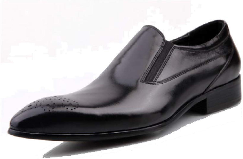 NIUMT Herren Lederschuhe Fu Schuhe Business Arbeitskleidung Deodorant Breathable Pointed