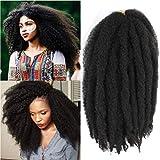 Marley Hair For Twists Afro Kinky Marley Braiding Hair 24Inch Cuban Twist Braid Marley Crochet Hair 6packs Marley Braid Hair Marley Twist Hair (24''-6 Packs, 2#)