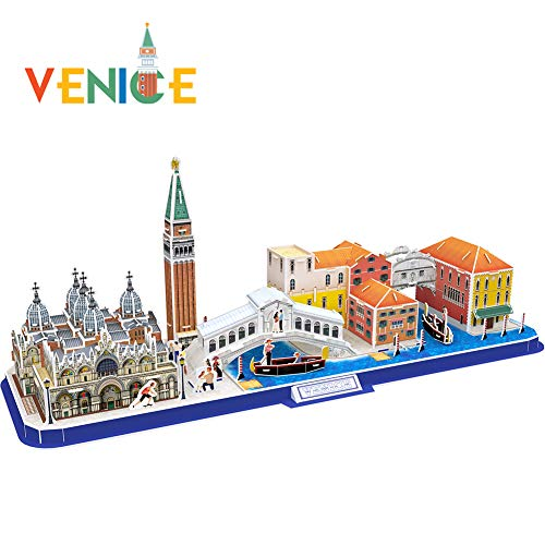 CubicFun 3D Puzzle City Model Kits Toys, Venice Italy Cityline Collection