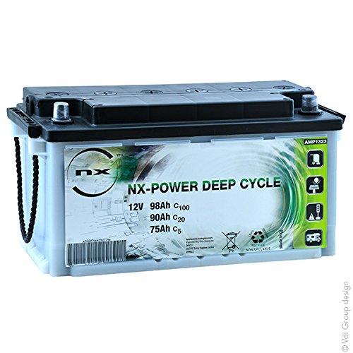 NX - Batería Plomo Abierta Power Deep Cycle 12V 90Ah Auto